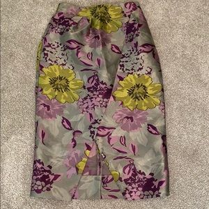 ASOS DESIGN Floral Jacquard faux wrap midi skirt